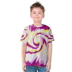 Tie Dye Pink Yellow Swirl Abstract Kid s Cotton Tee