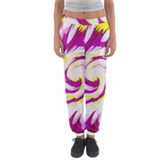 Tie Dye Pink Yellow Swirl Abstract Women s Jogger Sweatpants