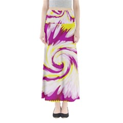 Tie Dye Pink Yellow Swirl Abstract Maxi Skirts