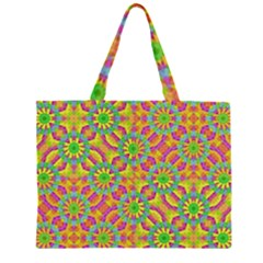 Modern Colorful Geometric Large Tote Bag