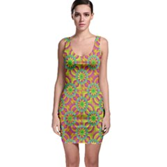 Modern Colorful Geometric Sleeveless Bodycon Dress