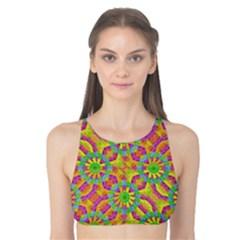 Modern Colorful Geometric Tank Bikini Top