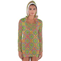 Modern Colorful Geometric Women s Long Sleeve Hooded T-shirt