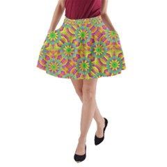 Modern Colorful Geometric A-Line Pocket Skirt