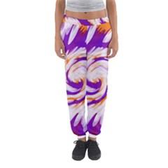 Tie Dye Purple Orange Abstract Swirl Women s Jogger Sweatpants