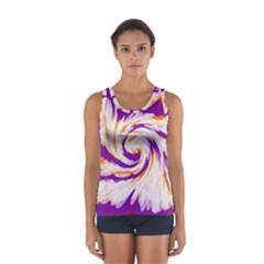 Tie Dye Purple Orange Abstract Swirl Tops