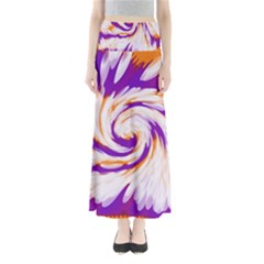 Tie Dye Purple Orange Abstract Swirl Maxi Skirts