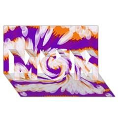 Tie Dye Purple Orange Abstract Swirl MOM 3D Greeting Card (8x4)