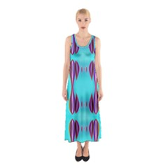 Sea color-Annabellerockz-011 Sleeveless Maxi Dress