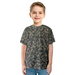 Jungle Camo Pattern Kid s Sport Mesh Tee
