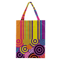Retro Circles Classic Tote Bag