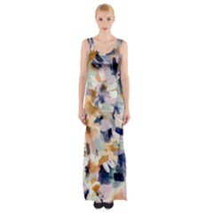 Lee Abstract Maxi Thigh Split Dress