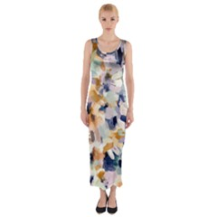 Lee Abstract Fitted Maxi Dress