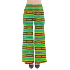 Bright Green Orange Lines Stripes Pants