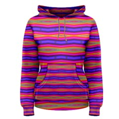 Bright Pink Purple Lines Stripes Women s Pullover Hoodie