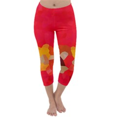 Red2 Capri Winter Leggings