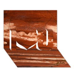 Red Earth Natural I Love You 3D Greeting Card (7x5)