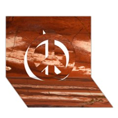 Red Earth Natural Peace Sign 3D Greeting Card (7x5)