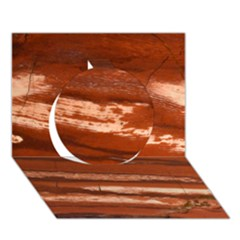 Red Earth Natural Circle 3D Greeting Card (7x5)