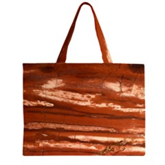 Red Earth Natural Zipper Large Tote Bag