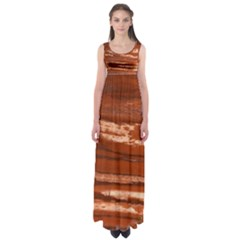Red Earth Natural Empire Waist Maxi Dress