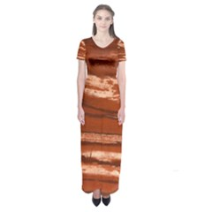 Red Earth Natural Short Sleeve Maxi Dress
