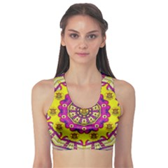 Celebrating Summer In Soul And Mind Mandala Style Sports Bra