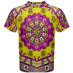 Celebrating Summer In Soul And Mind Mandala Style Men s Cotton Tee