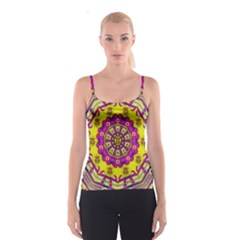 Celebrating Summer In Soul And Mind Mandala Style Spaghetti Strap Top