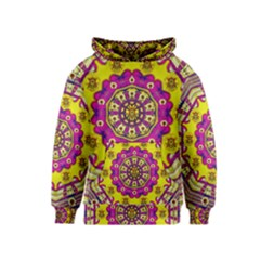 Celebrating Summer In Soul And Mind Mandala Style Kids  Pullover Hoodie