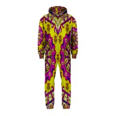 Celebrating Summer In Soul And Mind Mandala Style Hooded Jumpsuit (kids)