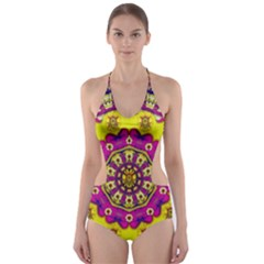 Celebrating Summer In Soul And Mind Mandala Style Cut Out One Piece Swimsuit