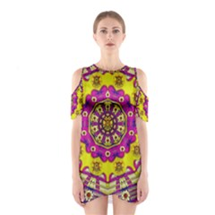 Celebrating Summer In Soul And Mind Mandala Style Cutout Shoulder Dress
