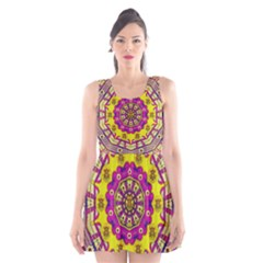 Celebrating Summer In Soul And Mind Mandala Style Scoop Neck Skater Dress