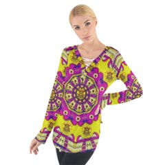 Celebrating Summer In Soul And Mind Mandala Style Women s Tie Up Tee