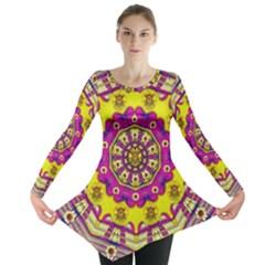 Celebrating Summer In Soul And Mind Mandala Style Long Sleeve Tunic