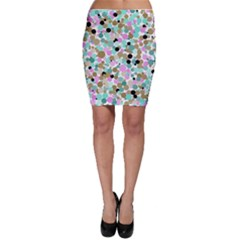 Colorful Dotted Abstract Bodycon Skirt
