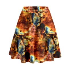 Natural Sunset Happy Mother Earth High Waist Skirt