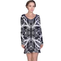 Mathematical Long Sleeve Nightdress
