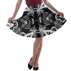 Mathematical A Line Skater Skirt
