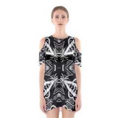 Mathematical Cutout Shoulder Dress