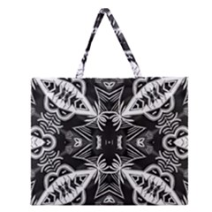 Mathematical Zipper Large Tote Bag