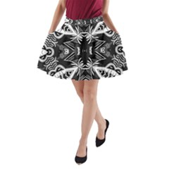 Mathematical A Line Pocket Skirt