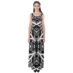 Mathematical Empire Waist Maxi Dress