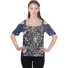 Sparkly Rox Flame Women s Cutout Shoulder Tee