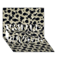 Metallic Camouflage YOU ARE INVITED 3D Greeting Card (7x5)