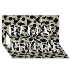 Metallic Camouflage Happy New Year 3D Greeting Card (8x4)