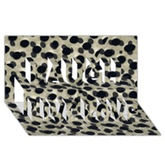 Metallic Camouflage Laugh Live Love 3D Greeting Card (8x4)