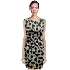 Metallic Camouflage Classic Sleeveless Midi Dress