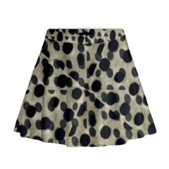 Metallic Camouflage Mini Flare Skirt